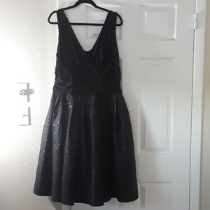 Black cocktail dress size 18